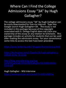 Hugh Gallagher Essay A  Herselfattendcf  Hugh Gallaghers College Essay A Essay Techoctave Llc Hugh Gallagher  How Do I Write A Thesis Statement For An Essay also Is There Any Website To Do My Assignment  Service That Write Book Report For You